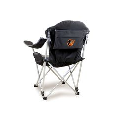 The Baltimore Orioles MLB Reclining Camp and Tailgating Chair
