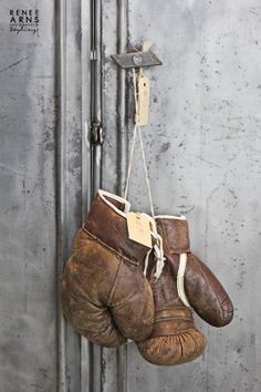 vintage boxing gloves - Renee Arns photography