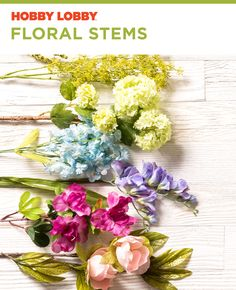 Do you want floral stems on every table in your house? Hint: the answer is yes. Welcome Summer, Seasonal Flowers, Craft Sale, Summer Trends, Hobby Lobby, Sale Items, Floral Wedding, Diy And Crafts, Floral Wreath