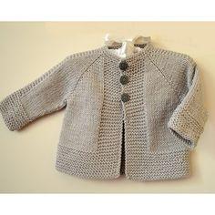 Baby Cardigan Knitting Pattern Free, Baby Boy Knitting Patterns, Baby Sweater Patterns, Knitted Baby Cardigan, Knit Baby Sweaters, Knitting For Kids, Kimono Pattern Free, Simple Knitting, Toddler Sweater