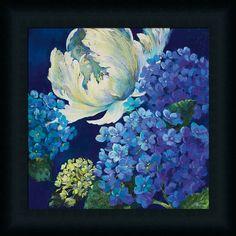 Bright Cobalt Blue Hydrangea by Nel Whatmore - Art Print Framed & Unframed at www.framedartbytilliams.com
