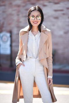 chic neutral nude outfit