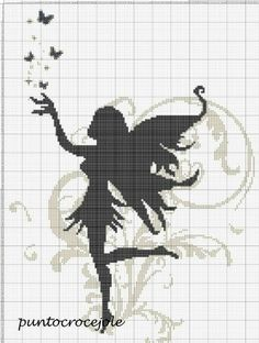 Cross Stitch Fairy, Cross Stitch Angels, Beaded Cross Stitch, Cross Stitch Embroidery, Hand Embroidery, Filet Crochet, Crochet Chart, Cross Stitch Designs, Cross Stitch Patterns