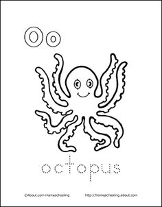My O Book: Octopus Coloring Page