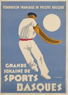 Pelote Basque #pelote #basque #chistera #vintage #jeanvier >> http://www.jean-vier.com/fr/