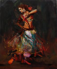 Zakir Painting - Classical Dance Art 15b by Maryam Mughal