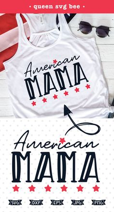 Celebrate the 4th of July in style with this patriotic American Mama SVG file, perfect for Cricut and Silhouette heat transfer vinyl crafts as well as scrap booking, card making, sublimation printing and iron on transfer projects.