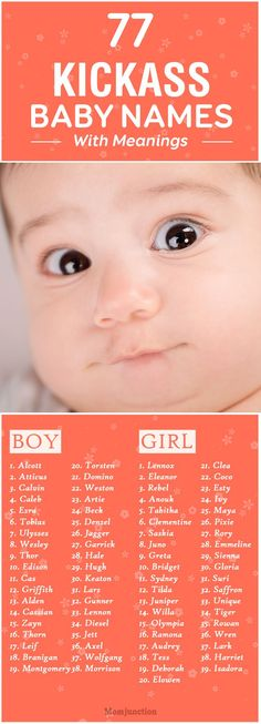 77 Kickass Baby Names With Meanings