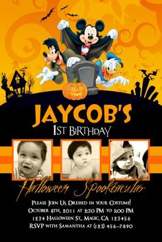Halloween 1st Birthdays First Birthday Mickey Mouse Party