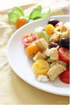 Heirloom Tomatoes and Panzanella Salad