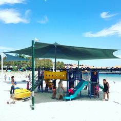 Hillary's playground. An amazing shaded playground right on the beautiful beach at Hillary's! You can settle in for hours, while your kids play here! Many great restaurants and shops are located here too.