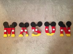 Wooden Letter Disney Theme by SewnSweet168 on Etsy