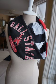 Ball State infinity scarf