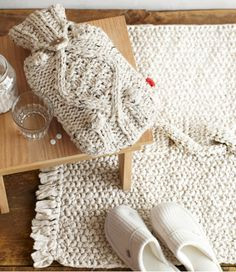 white knitted home accessories | THE STYLE FILES