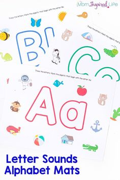 These alphabet play dough mats are perfect for teaching the alphabet to preschoolers! It's a great way to practice letter recognition, beginning letter sounds and even writing letters! Use them with play dough or dry-erase markers. They are perfect for yo Preschool Literacy, Preschool Letters, Literacy Activities, Preschool Printables, Preschool Ideas, Daycare Ideas, Language Activities, Kindergarten Math, Literacy Centers