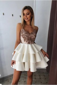 Beaded Spaghetti Straps Short Homecoming Dress Cute Girls Cocktail Party Gowns S. - Beaded Spaghetti Straps Short Homecoming Dress Cute Girls Cocktail Party Gowns S… – Source by - Prom Dress Black, Backless Homecoming Dresses, Backless Dresses, Sweet 16 Dresses, Sweet Dress, Sexy Dresses, Summer Dresses, Formal Dresses, Wedding Dresses