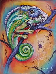 paintings of chameleons - Google Search