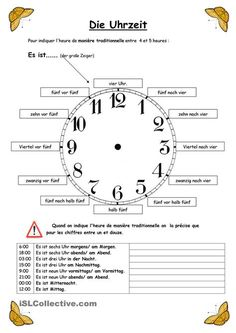 die Uhrzeit / consultez: http://languagelearningbase.com/89031/essential-german-time-phrases-and-expressions