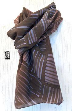 Seta sciarpa uomini, Mens regalo, regalo per gli uomini, seta dipinta a mano…