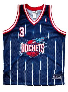 Authentic Signed Steve Francis Houston Rockets Signed Jersey - 48/XL