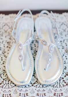 Wedding Shoes: #Sparkly #Wedding Sandals | Photo by: Rachel May on Southern Weddings via Lover.ly