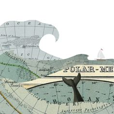 'The Whale' Vintage maps graphic design.