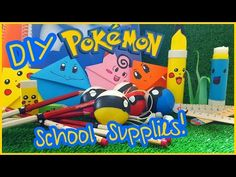 DIY Pokemon School Supplies!Bookmarks,Pencils,Rulers,Notebooks,Erasers & More!(Fun & Easy))#COLLAB - YouTube