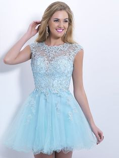 2014 Style A-line Scoop Rhinestone Homecoming Dresses/Cocktail Dresses #GC594