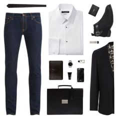 """""""The Charm"""" by belenloperfido ❤ liked on Polyvore featuring Prada, Nudie Jeans Co., Paul Smith, Ask the Missus, Yves Saint Laurent, Vince, Rolex, Native Union, Carven and Byredo"""