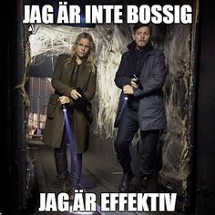"Saga Norén in the bridge season 3 ""jag är inte bossig, jag är effektiv"" (bron/broen)"