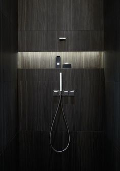 Armani Hotel Dubai - bathroom niche with lighting , excelente idea para baño moderno | Home | Pinterest