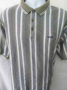 IZOD Golf Polo XL Green Black Mens Shirt Short Sleeves Sports White Logo EUC $15.99