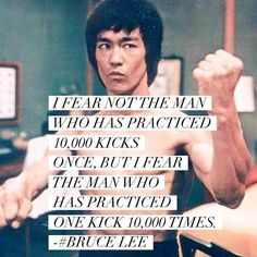 I'm not in this world to live up to your expectations and you're not in this world to live up to mine. @brucelee #brucelee #practice #consistancy #putinthework