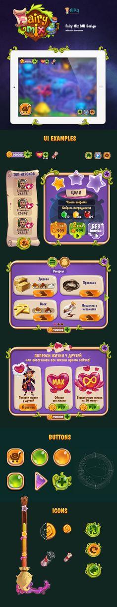 Fairy Mix GUI Design on Behance
