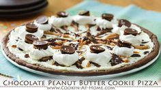 Chocolate Peanut Butter Cookie Pizza | Cooking at Home