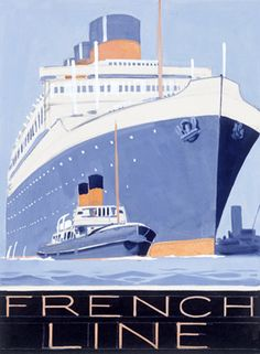 French Oceanliner Ile de France - I actually crossed the Atlantic on the Ile de France when I was a kid! #french travel memories, #french travel, Ile de France