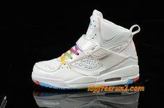 timeless design a934d 075a4  59.54 Air Jordan Flight 45 Women High Rainbow White