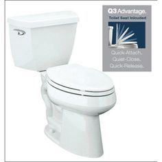KOHLER Highline Classic White WaterSense Elongated Chair Height Toilet Rough-In Size at Lowe's. With its clean, simple design and efficient performance, this Highline water-conserving toilet combines both style and function. Small White Bathrooms, Classic Bowls, Floor Outlets, Upstairs Bathrooms, Guest Bathrooms, Downstairs Bathroom, Bathroom Curtains, Master Bathroom, New Bathroom Ideas