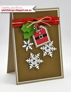 Splotch Design - Jacquii McLeay - Stampin Up - Christmas Card