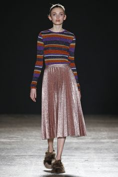 Milan Fall 2016 Trend: Lurex | Cristiano Burani RTW Fall 2016 #PFW [Photo: Giovanni Giannoni]