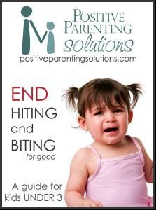 Strategies to end hitting & biting for toddlers (under 3 years old).  Just in case... plus, my baby already bites the eyes of all of her stuffed animals, I don't want this to become an issue with other kids