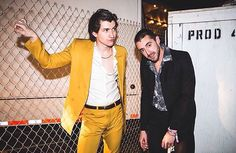 Milex, coachella.... The Last shadow puppets. Alex Turner. Miles Kane