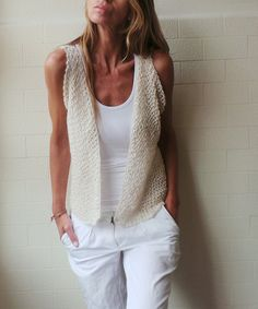 ivory cream alpaca and silk knitted waistcoat от ileaiye на Etsy