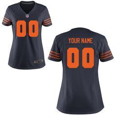 Women's Nike Chicago Bears Customized Game Throwback Jersey - NFLShop.com