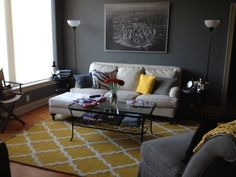 Buckhead Betty ... on a Budget: Living Room Decor Complete. Rugs USA Moroccan rug