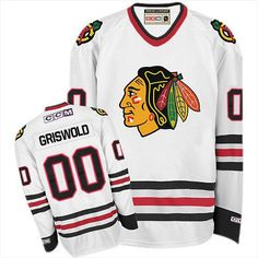 Size L Clark Griswold Men s Chicago Blackhawks 00 Authentic White Throwback  Jersey Patrick Sharp f7322dc43