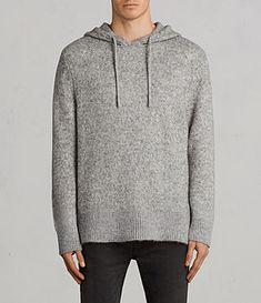 Men's Harnden Knitted Hoody (Grey Marl) - Image 1