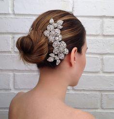 Bridal comb #wedding #hair #accessories #comb