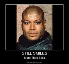 Still smiles more than Bella.