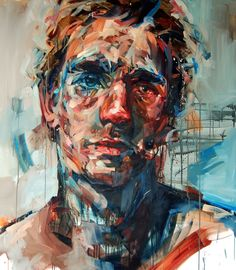 Portraits by Andrew Salgado New portraits from Andrew Salgado.New portraits from Andrew Salgado. Art Inspo, Painting Inspiration, Design Inspiration, L'art Du Portrait, Abstract Portrait, Painting Portraits, Figure Painting, Painting & Drawing, Painting People